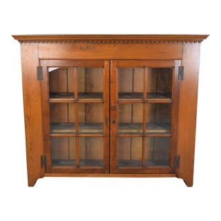 Mission Style Oak China Cabinet