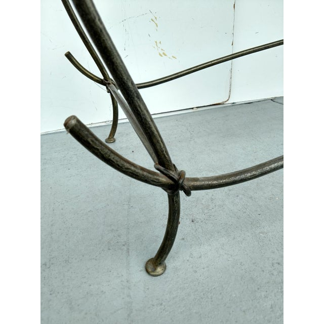 Wrought Iron and Glass Console Table, Vintage For Sale - Image 10 of 13
