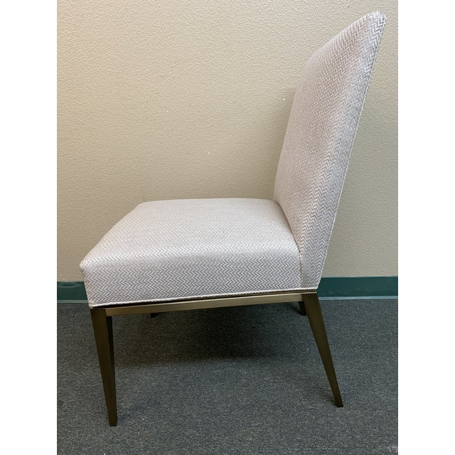 2020s New Design Master Richfield Veranda Side Chair in Antique Bronze + Custom Upholstery For Sale - Image 5 of 13