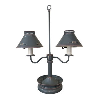 Antique Late 19th Century Underwriters Laboratories Table Lamp With Lamp Shades For Sale