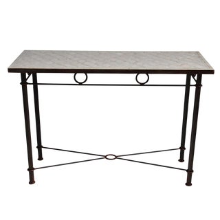 Mosaic Console Table For Sale