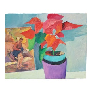 Potted Plant Still Life Painting For Sale