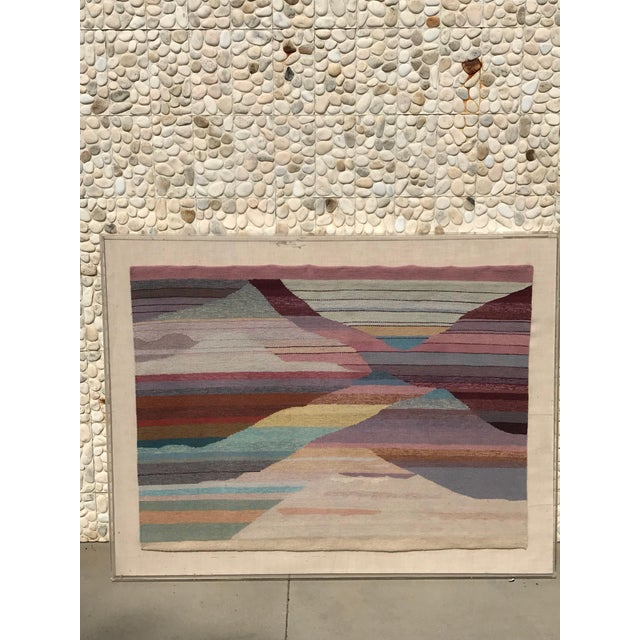 Modern Handwoven Abstract in Plexi Case From a Steve Chase Palm Springs Estate For Sale - Image 3 of 10