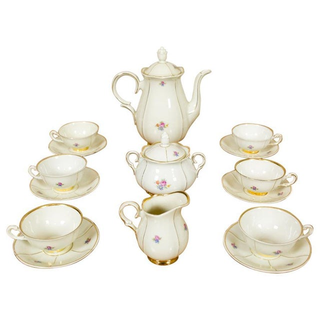 1918-1948 Karlskrona Porcelain Coffee Service for 6 - Set of 15 For Sale - Image 13 of 13