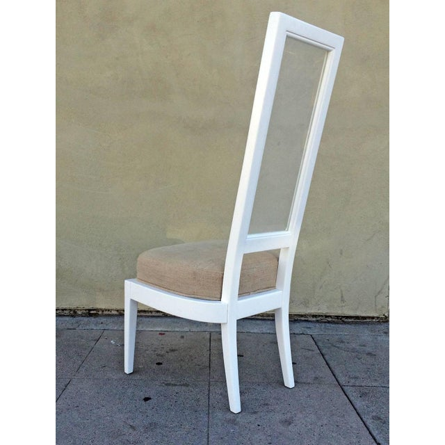 1970s White Lacquer And Lucite Dining Chairs - Set of 4 - Image 4 of 6