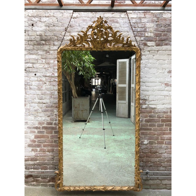 Spectacular French Mirror From the Early 19th Century For Sale - Image 10 of 11
