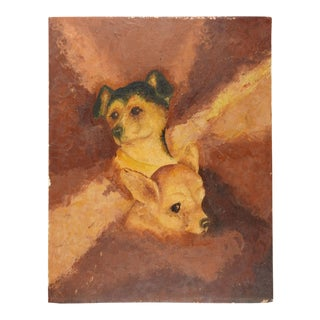 Portrait Painting of Little Dogs For Sale