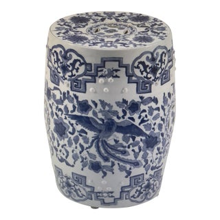 Chinese Blue and White Porcelain Garden Seat For Sale