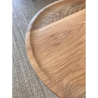 Tall Round Side Table With Pedestal Base in Cursed Oak by Martin and Brockett Preview