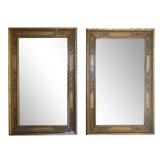 19th Century Italian Gilt-Wood Mirrors- a Pair For Sale