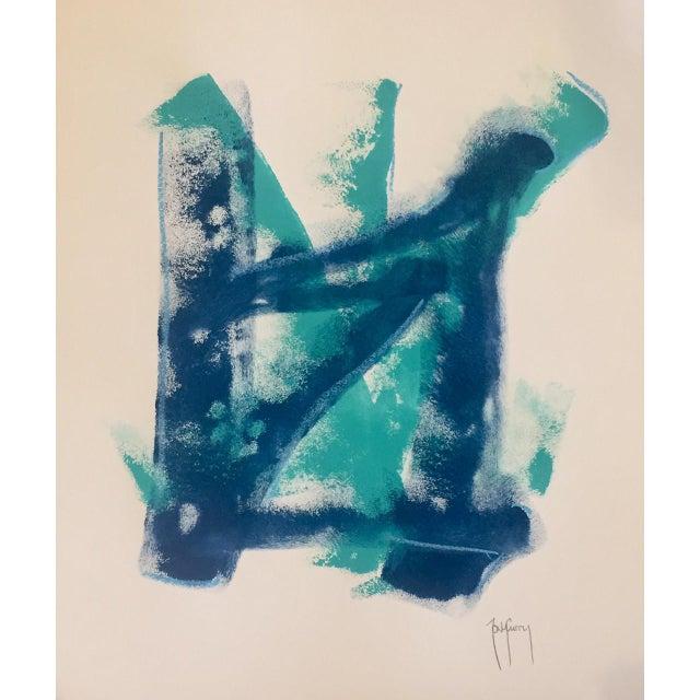Original Modern Art Blue Painting by Tony Curry - Image 3 of 3