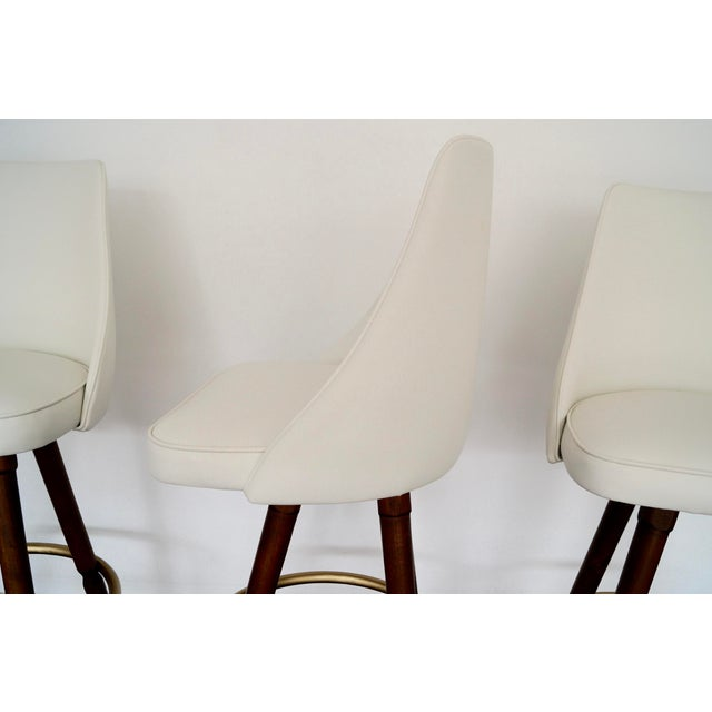 Mid-Century Hollywood Regency Bar Stools - Set of 3 - Image 11 of 11