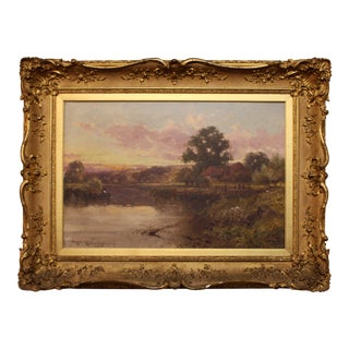 """""""Evening on the River"""" Oil Painting by Harry Pennell For Sale"""