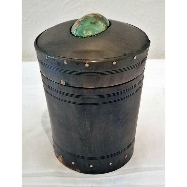 18c Scottish Horn and Polished Stone Tea Caddy For Sale - Image 12 of 12