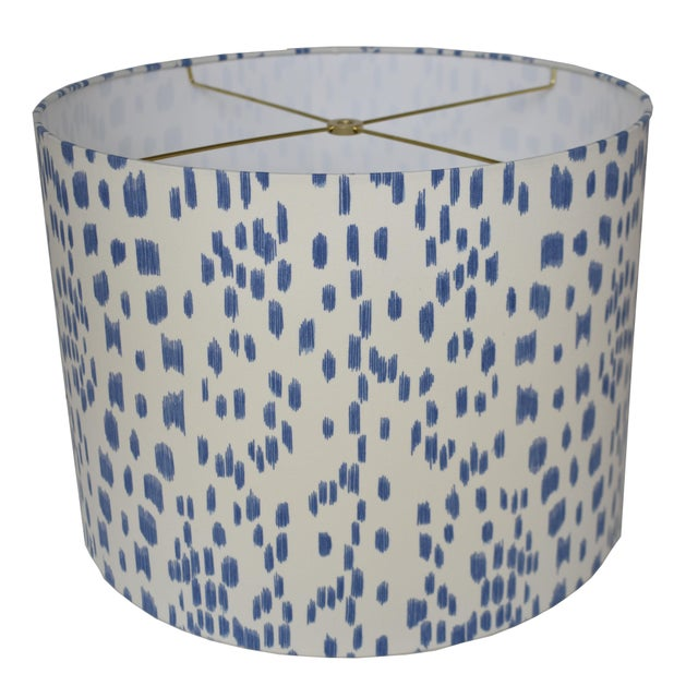 Contemporary Cadet Blue Les Touches Drum Lampshade For Sale - Image 3 of 3