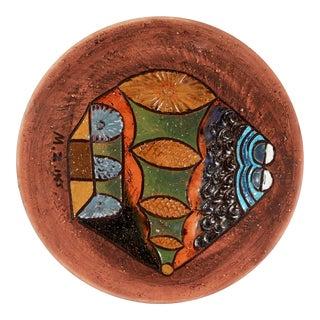 Modernist Marian Zawadsky for Tilgmans Swedish Art Pottery Wall Platter For Sale