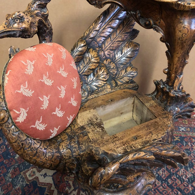 19th Century Venetian Hand Carved Swan Grotto Chair For Sale - Image 12 of 13