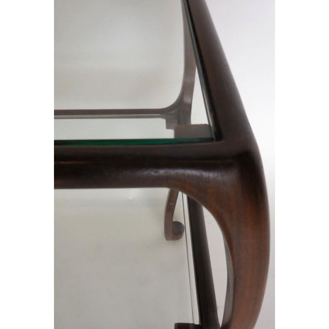 1920s Custom Curvy Side Table in Walnut Wood For Sale - Image 5 of 8