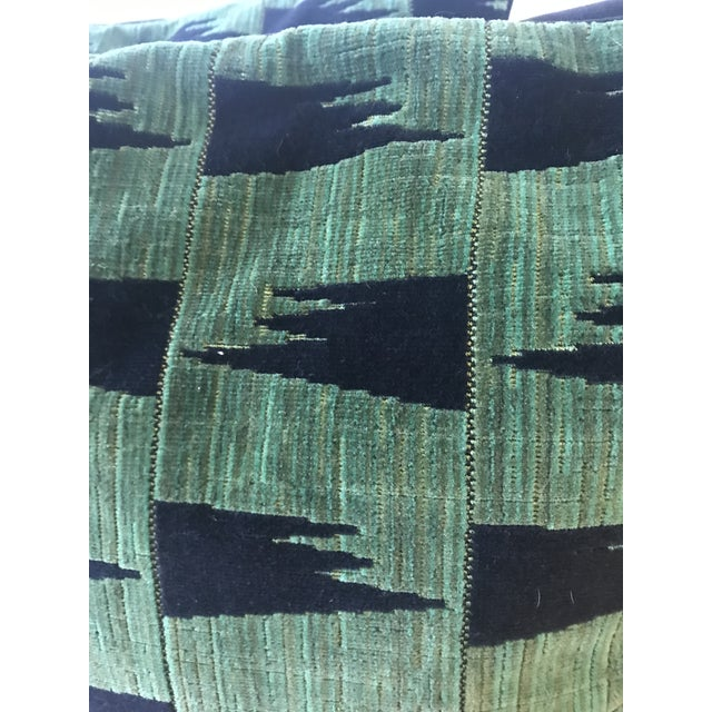 Contemporary Schumacher Tutsi Green Pillows - A Pair For Sale - Image 3 of 7