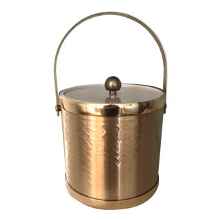 Towle Vintage Gold Metal Insulated Ice Bucket For Sale