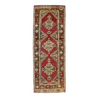 Vintage Turkish Runner, 3' X 8'10'' For Sale