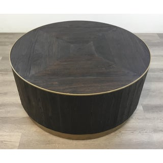Industrial Modern Round Wood Cocktail Table Preview