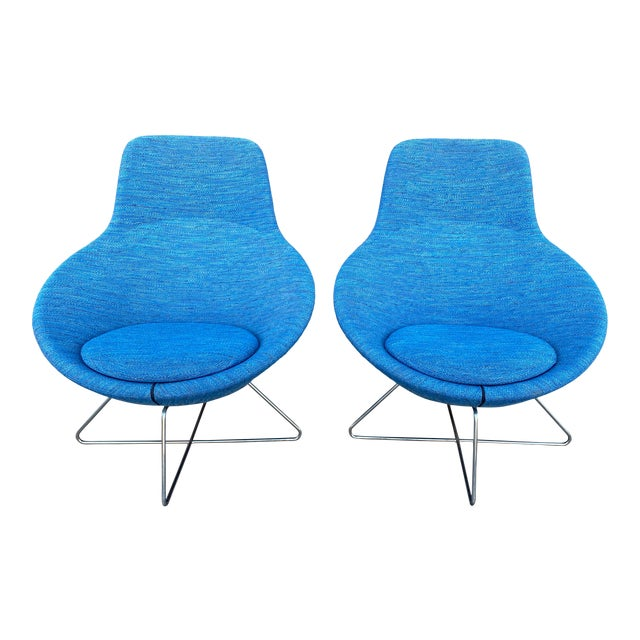 Allermuir Conic Modern Lounge Chairs - a Pair For Sale