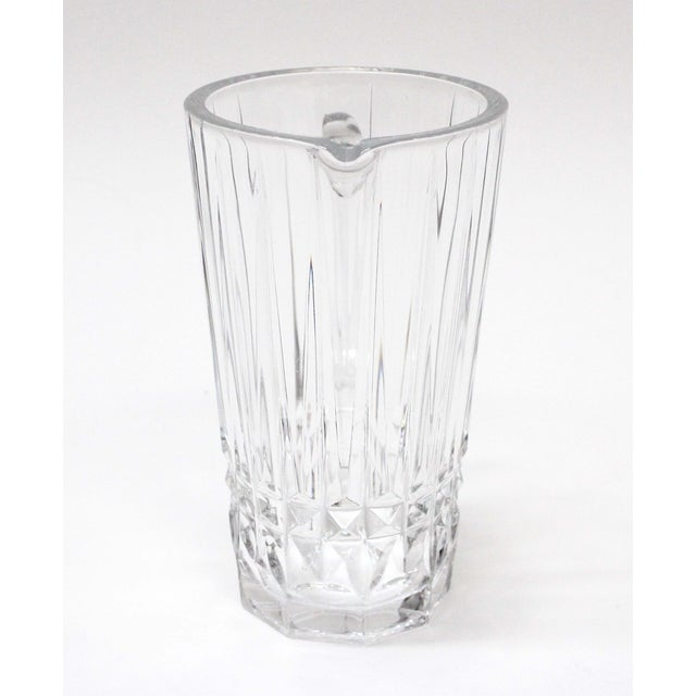 Val St. Lambert Crystal Pitcher For Sale - Image 5 of 5