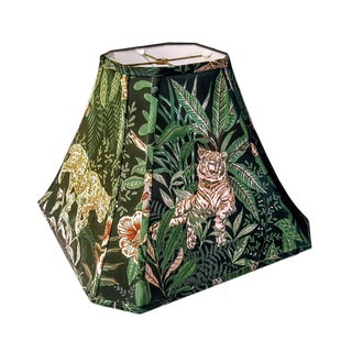 Octogonal Shaped Jungle Themed Lamp Shade