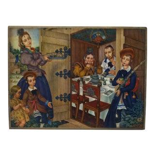 "Vintage Mounted Color Print ""Sukkah"" by Arthur Szyk For Sale"