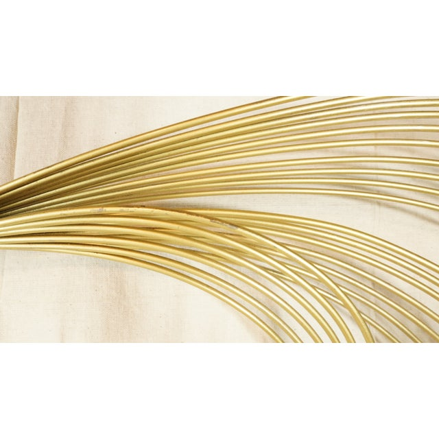 Contemporary Vintage Curtis Jere Gold Wave Wall Sculpture For Sale - Image 3 of 5