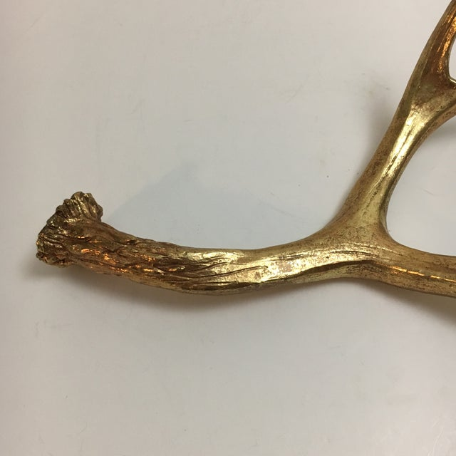 Painted Gold Sculptural Antler - Image 4 of 6