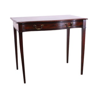 Federal Period Antique 1820's Mahogany Serpentine One Drawer Console Table For Sale