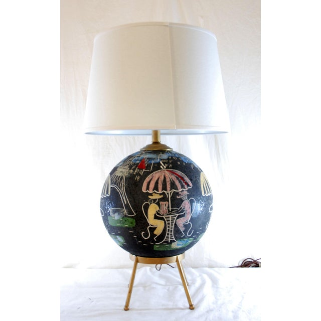 Mid-Century Atomic Cafe Paris Table Lamp - Image 7 of 7