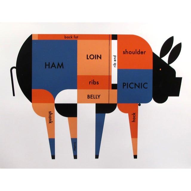 Children's 2017 Geometric Pork \ Piggy Cut - Butcher Chart For Sale - Image 3 of 3