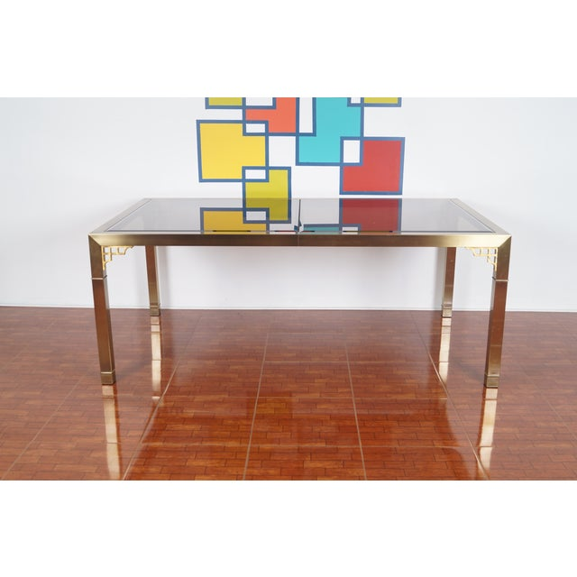 Vintage Mastercraft Brass & Glass Dining Table - Image 4 of 7