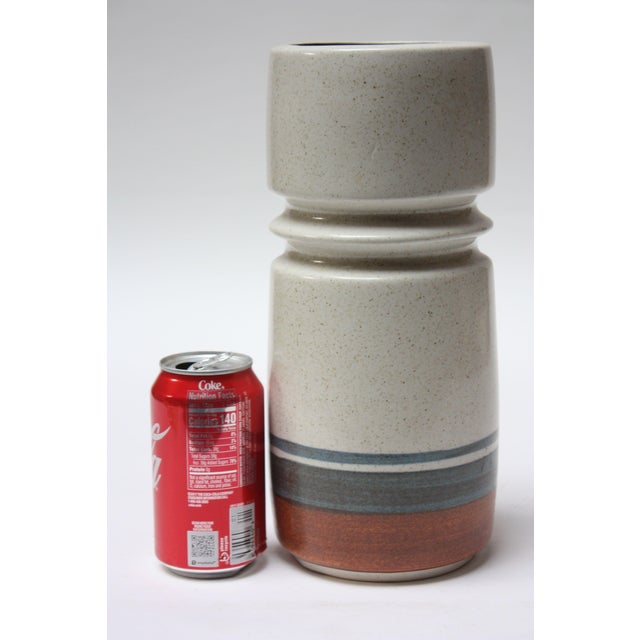 1960s Mid Century Israeli Modern Large Stoneware Vase by Esther for Lapid For Sale - Image 5 of 11