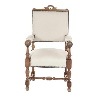 1860's Dutch Baroque Style Armchair For Sale