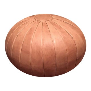 Deco Pouf by Mpw Plaza, Sand (Stuffed) Moroccan Leather Pouf Ottoman For Sale