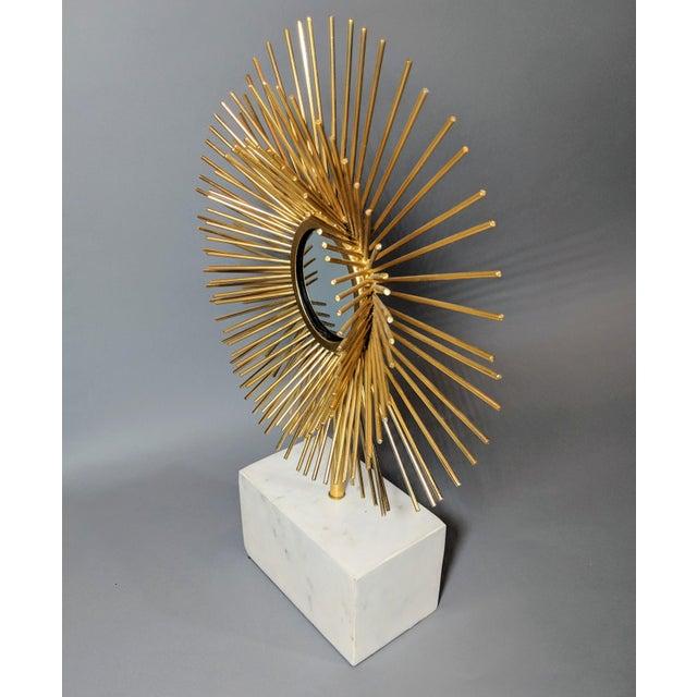 Curtis Jere Modernist Starburst Tabletop Mirror Sculpture For Sale - Image 4 of 10