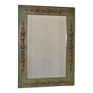 Vintage Wood & Gilt Gesso Flower Framed Mirror c.1930s