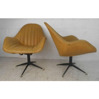 Mid-century Modern France & Sons Swivel Lounge Chairs - a Pair Preview