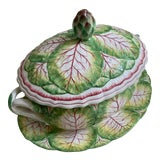 Image of Italian Porcelain Cabbage Soup Tureen For Sale