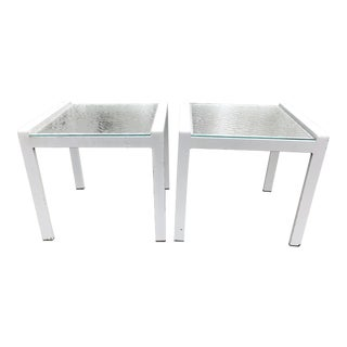 Vintage Modern Brown Jordan Style Patio Side Tables—a Pair For Sale