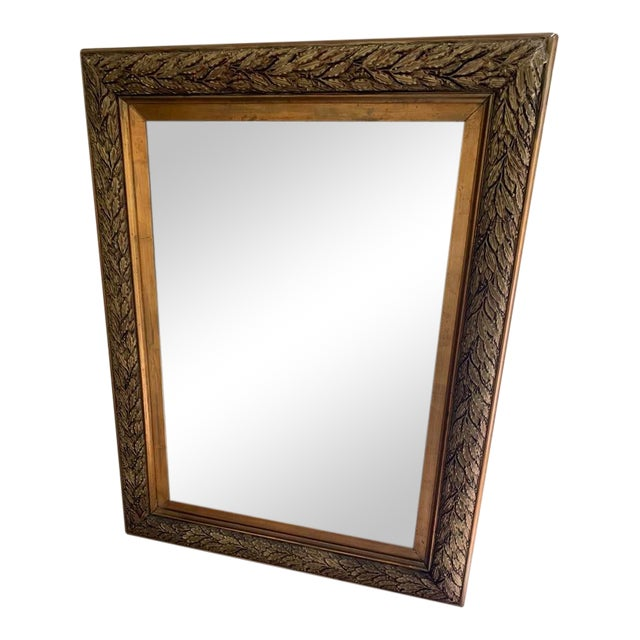 b6b67843d Late 20th Century Antique Gold Mirror | Chairish