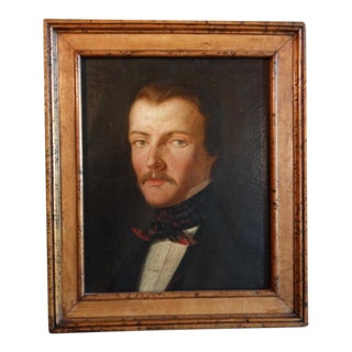 Late 19th Century Portrait of a Young English Gentleman Oil Painting, Framed For Sale