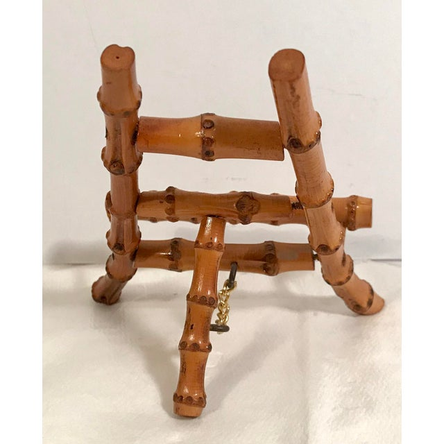 Asian Vintage Petite Bamboo Mini Easel For Sale - Image 3 of 7
