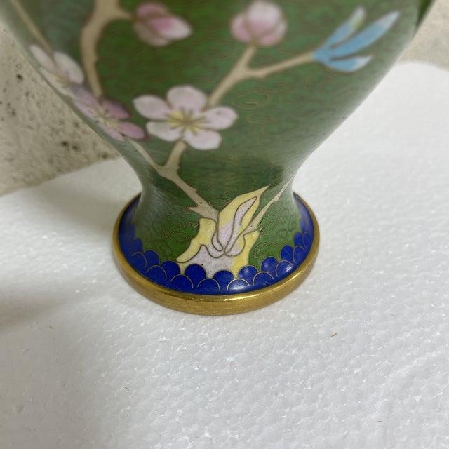 Vintage Cloisonné Vase For Sale - Image 10 of 11