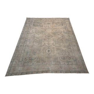 1940s Vintage Distressed Persian Rug - 9′7″ × 12′5″ For Sale
