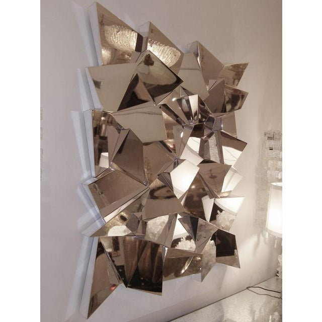 Delaunay Chrome Mirror / Wall Sculpture by Craig Van Den Brulle For Sale - Image 5 of 5